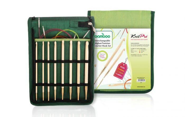 KnitPro Bamboo Tunische Haaknaalden Set