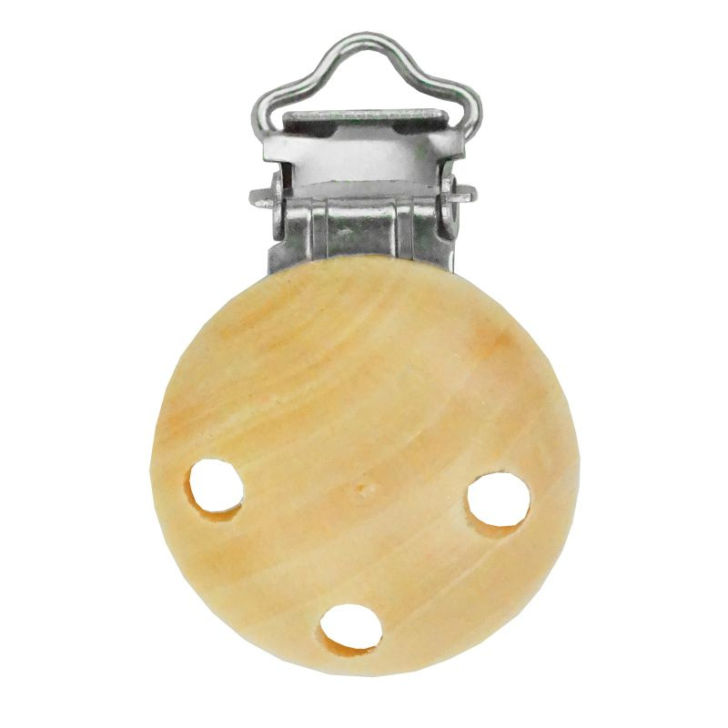Houten clip voor speen