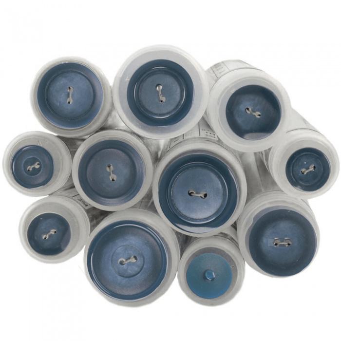 Gekleurde knoop Blauw 839