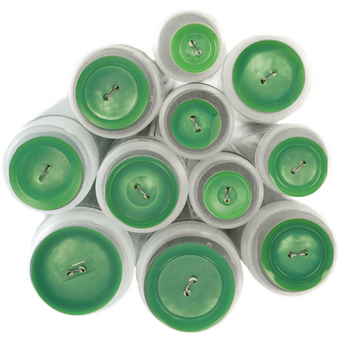 Gekleurde knoop Groen 874