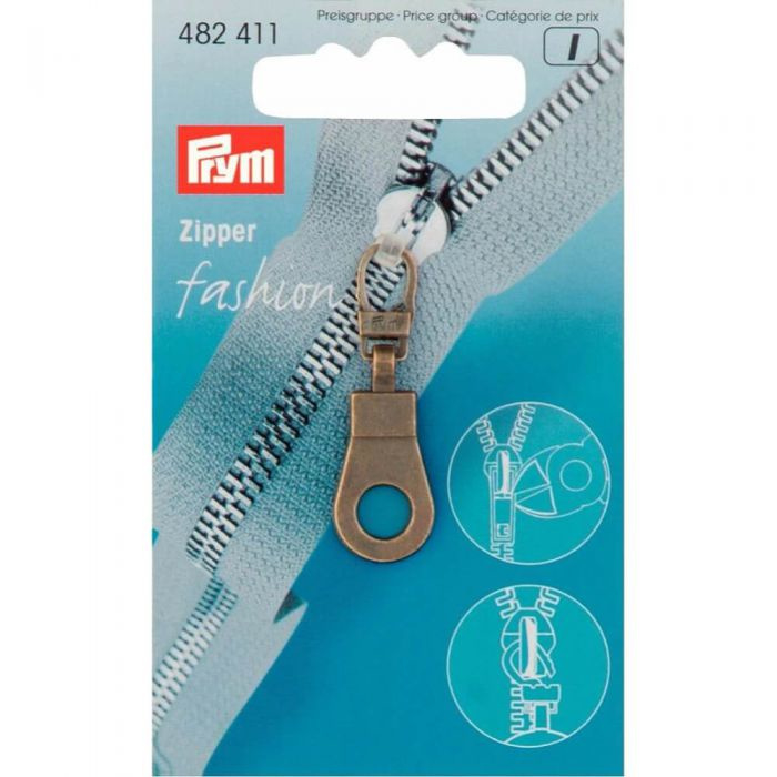 Prym Ritsenschuiver ring oudmessing
