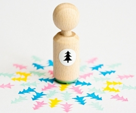 Mini stempel kerstboom