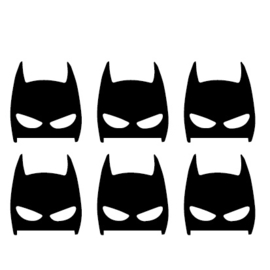 Sticker Batman mask set van 6