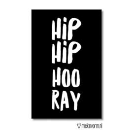Mini kaartje Hip Hip Hooray   |  Miek in Vorm