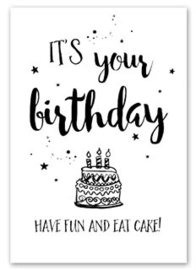 Kaart It`s your Birthday | Jots