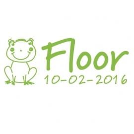 Geboortesticker Floor met kikker