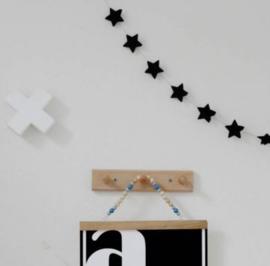 Sterren slinger 3D, zwart  | Sparkling Paper