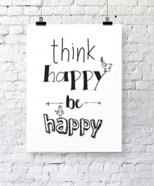 Poster Think happy be happy | Jots