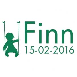 Geboortesticker Finn