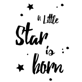 Geboortesticker Little Star is born