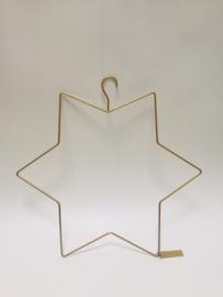Kerst hanger Ster Goud  M  |  MrsBloom