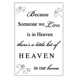 Kaart Because Someone we Love is in Heaven