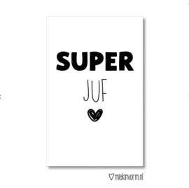 Mini kaartje Super juf