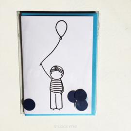 Kaart Jongen met ballon | Irmadammekes