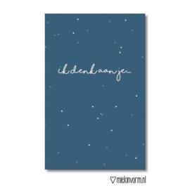 Mini kaartje Ik denk aan je.. |  Miek in Vorm