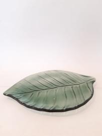 Glazen blad schaal