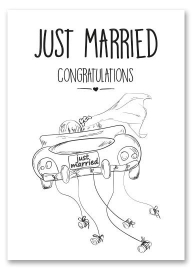 Kaart Just Married | Jots