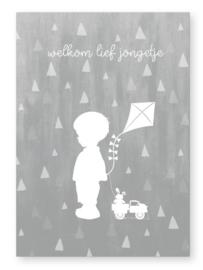Kaart  welkom lief jongetje  |   Jots
