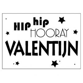 Poster Hip Hip Hooray met eigen naam |  A3 formaat