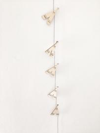 Houten slinger tipi  |  Miek in vorm