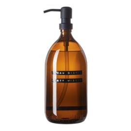 Afwasmiddel in bruin glas met metalen pomp | Wellmark