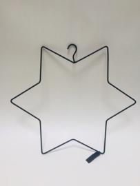 Kerst hanger Ster Zwart M   |  MrsBloom