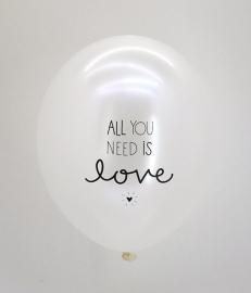 Balloon All you need is Love, set van 6