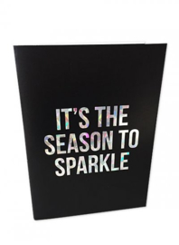 Kerstkaart Holographic It`s the season to sparkle |  Studio Stationery