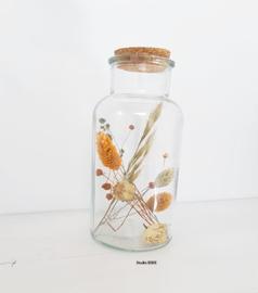 Jar met droogbloemen Studio EEKE L oranje