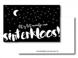 Dit is het avondje van Sinterklaas, mini kaartje  |  Winkeltje van Anne