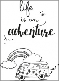 Kaart life is an adventure  | Jots