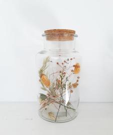 Jar met droogbloemen Studio EEKE XXL oranje