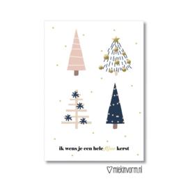 Kerstkaart Ik wens je een hele fijne kerst  |  Miek in Vorm