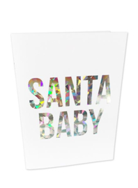 Kerstkaart Holographic Santa Baby  |  Studio Stationery