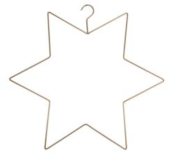 Kerst hanger Ster Goud  |  MrsBloom
