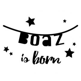 Geboortesticker banner Boaz