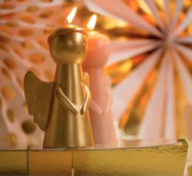 Kaars Engel goud |  Rustik Lys