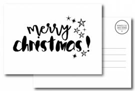 Kerstkaart Merry christmas!