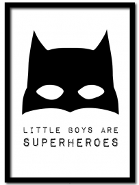 Little boys are superheroes, A4 poster   |  Winkeltje van anne