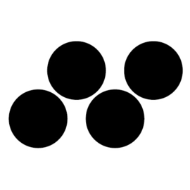 Krijtbordsticker Label rond XL