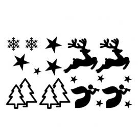 Verzamelvel met Hert, Kerstboom en Engel