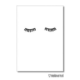 Kaart sleepy eyes