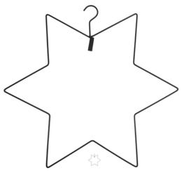 Kerst hanger Ster Zwart |  MrsBloom