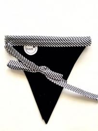 Krijtbordslinger Wit met zwarte strepen