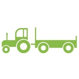 Muursticker Tractor met kar