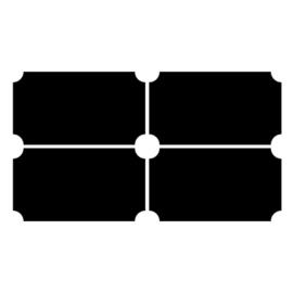 Krijtbordsticker Label rechthoek sierlijk XL