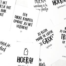 Kaartenset 9 zwart wit kaarten  |  By Romi