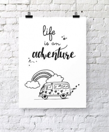 Poster Life is an adventure | Jots
