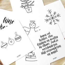 Kerstkaarten set van 8 kaarten  |  By Romi