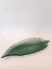 Glazen blad schaal lang